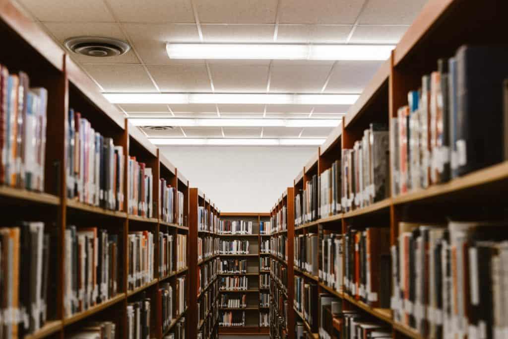 ряды с книгами